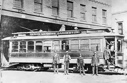 Akron Kenmore and Barberton trolley