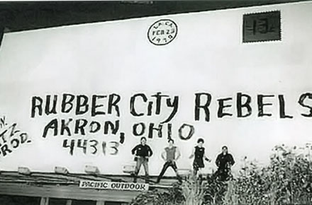 Rubber City Rebels Billboard, ca. 1970s