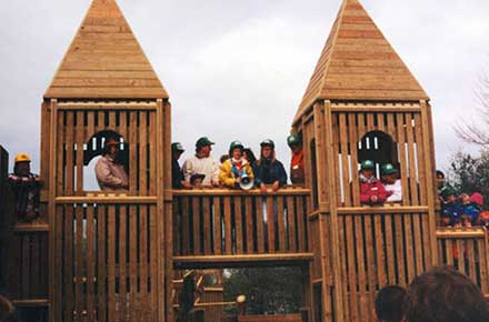 Construction of Avon Lake Play Space in Bleser Park, 1994