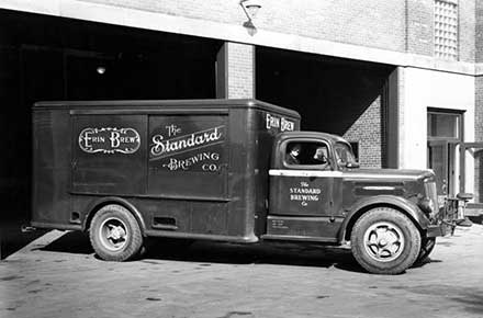 Standard Brewing Company delivery truck, 1950