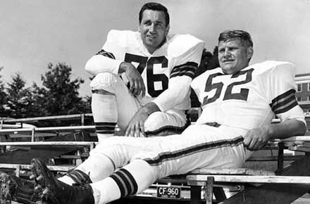 Lou Groza and Frank Gatski, Cleveland Browns training camp 1956