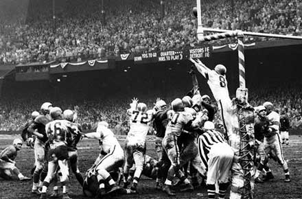 Winning field goal, Browns vs. Lions NFL Championship Game, 1952