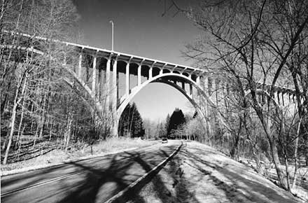 Brookpark Rd. Bridge over Rocky River & Metroparks, 1988