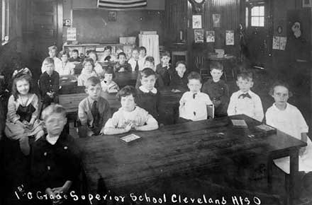 First grade class at Superior Schoolhouse ca. 1920