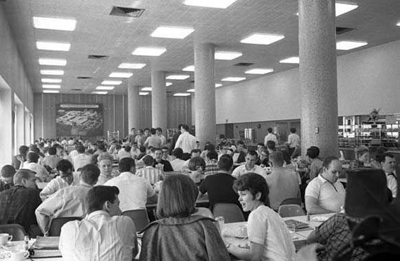 The cafeteria in Stilwell Hall, ca.1968.