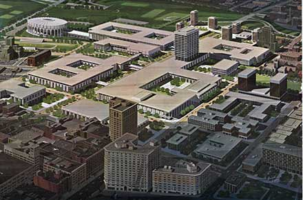 Drawing of CSU's original campus master plan