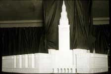 Plaster model of the Cleveland Union Terminal