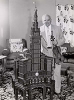 Charles Hlinka and his 6-foot CUT model