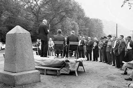 Dedication of &Point of Beginning& Marker, 1960