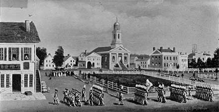 Northwest secion of Public Square, 1839