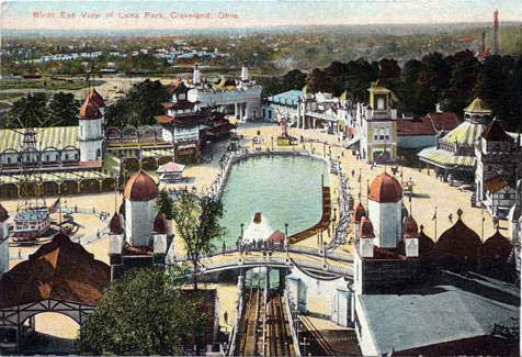 Bird's Eye View of Luna Park, Cleveland Ohio