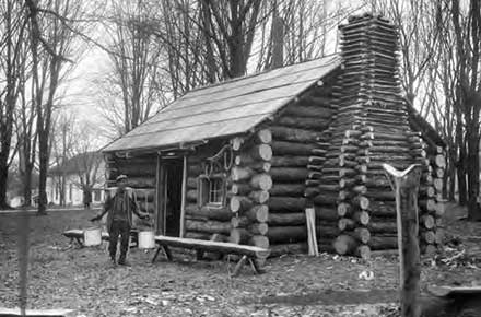 Burton's model Log Cabin Sugar Camp, 1931