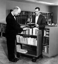 Dr. Richard Small and Emil J. Stefancic, Librarian
