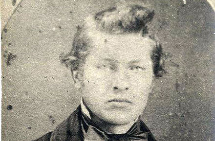 James A. Garfield at age 16, ca.1847