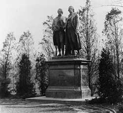 Statue of Goethe and Schiller