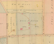 1914 plot of Elisabeth S. A. Prentiss' land