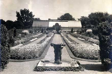 Formal Garden with greenhouse at Glenallen.