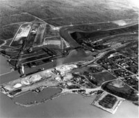 Aerial view of the Port of Conneaut
