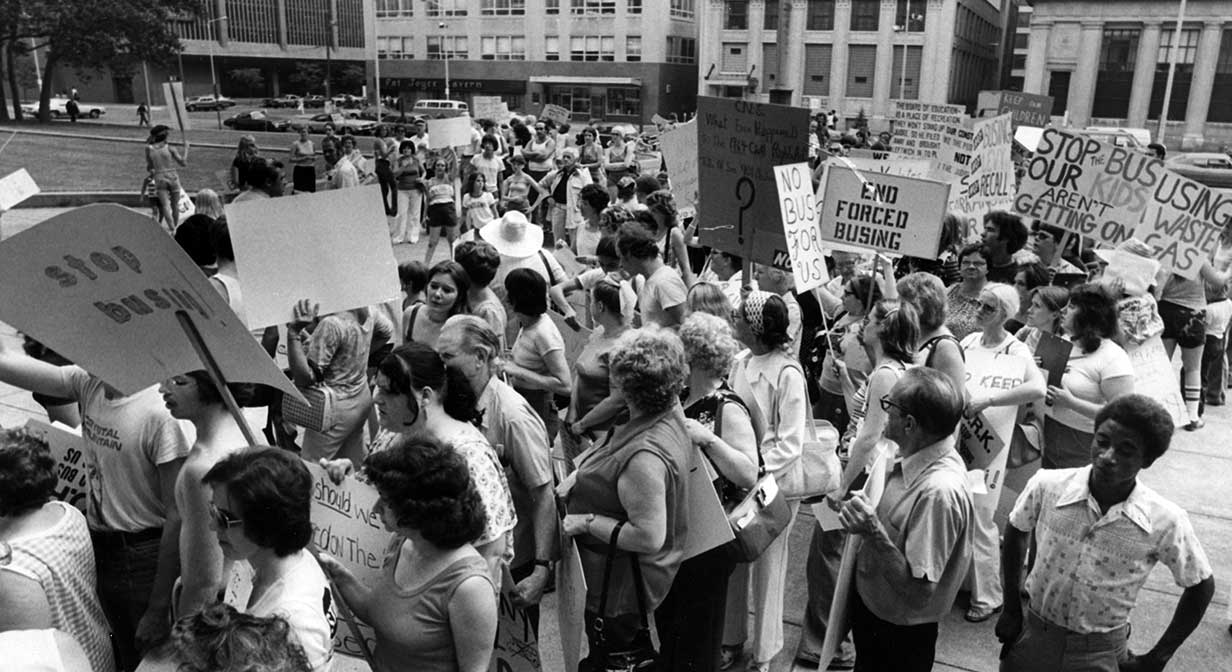 Anti-busing demonstration, 1978.