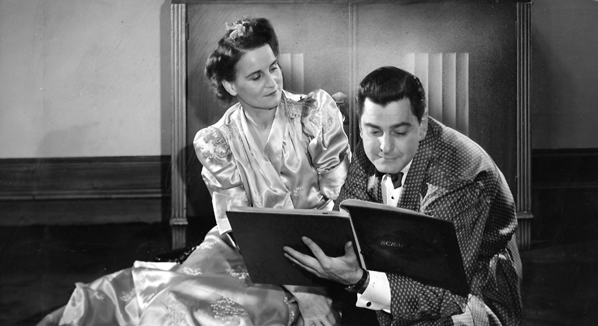 "Dorothy Paxton and K. Elmo Lowe in ""Skylark"", 1941."