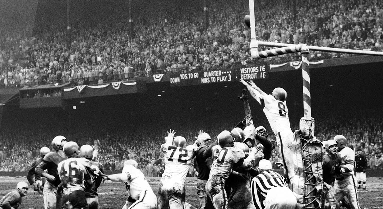 Cleveland Browns Field Goal That Won Them The NFL Championshio In 1952