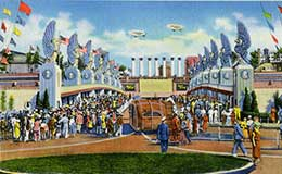 Postcard of the Great Lakes Exposition, 1937.
