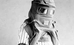 Garrett Morgan in his safety hood invention.