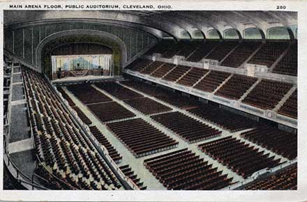 Main arena floor, Public Auditorium.
