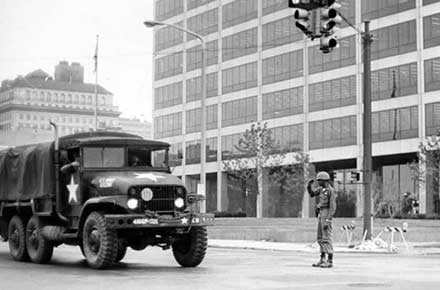 Ohio National Guard at E. 9th. St., 1968