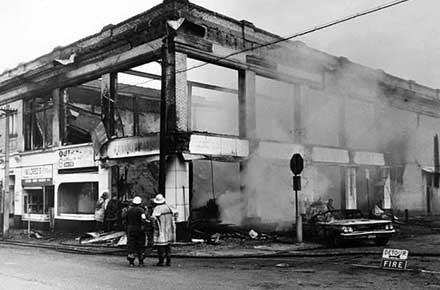 Destruction at E. 124th & Superior, 1968