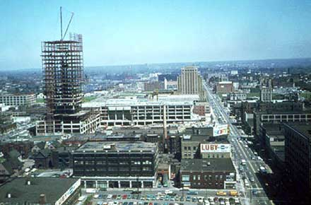 CSU, Rhodes Tower under construction