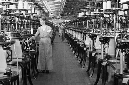 Industrial Rayon Corp. plant interior, 1936.