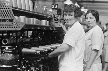 IRC workers, Ruth Brown and Josephine Stastny, 1928.