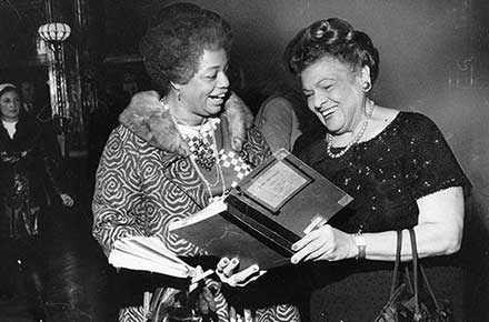 Zelma George and Gladys Davenport singing Handel's Messiah at Karamu House, 1975