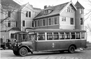 Cleveland Railway Co. bus, 1930.