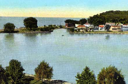 View of Clifton Park and Lake Erie.