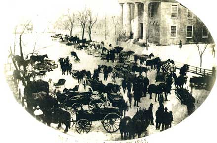 Hog Day in Mansfield, 1862
