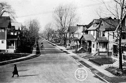Stratmore Avenue - north of ®NKP overpass, 1922.
