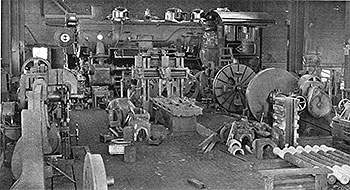Interior of Locomotive Shop