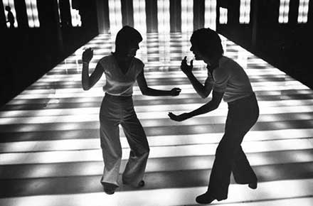 Two unidentified dancers at Parma's Dixie Electric Disco, 1977