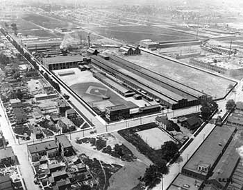 Aerial view of Parrish and Bingham Company