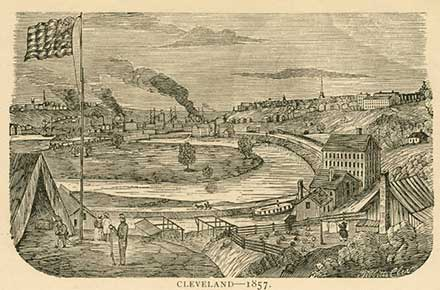 View of Cleveland in 1857
