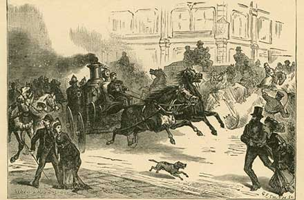 Going to a fire, 1876