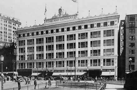 May Co. facade, Euclid Avenue, 1924