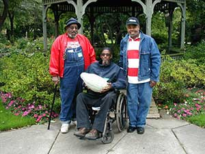 Union- East 128th Street Community Gardeners, Monroe Cuff, James Jordan and Anthony Mitchell