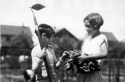 Cleveland Public School students (l-r) Marcella Rickets and Irvina Knight, 1929