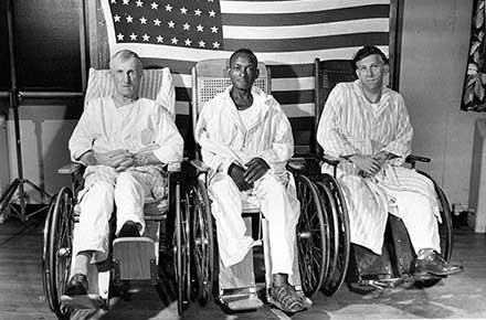 Veteran patients at Crile Hospital, 1950