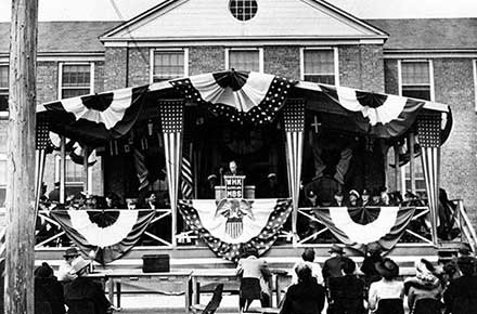 Crile Hospital dedication ceremony, April 29, 1944