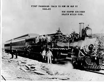 First Wheeling and Lake Erie passenger train, 1883