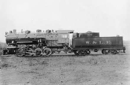 Locomotive No. 5112 0-8-0, Wheeling and Lake Erie Railroad, 1905.